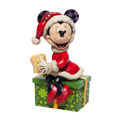 Jim Shore Disney Traditions Santa Minnie With Hot Chocolate Figurine