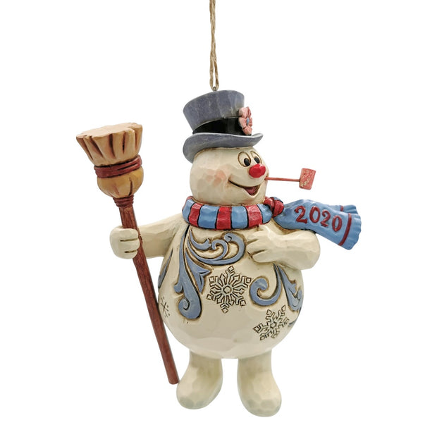Jim Shore Frosty With Broom 2020 Dated Ornament