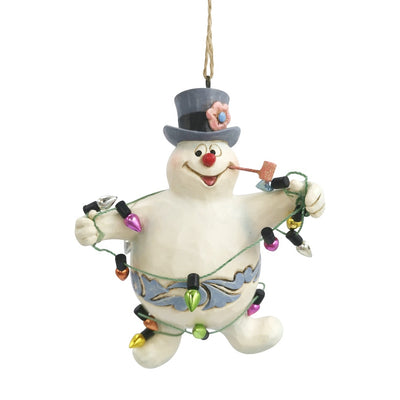 Jim Shore Frosty Wrapped In Lights Ornament