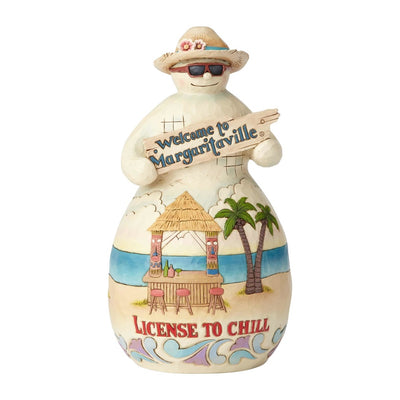 Jim Shore Margaritaville Tiki Hut Snowman Figurine