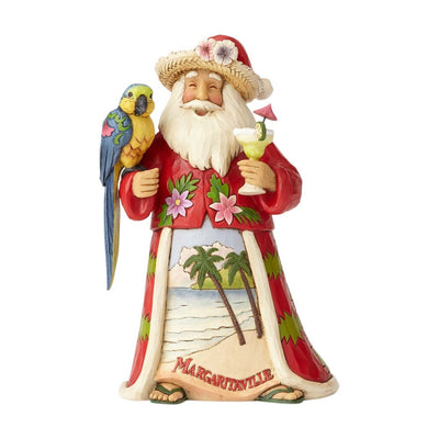 Jim Shore Margaritaville Santa With Parrot Figurine