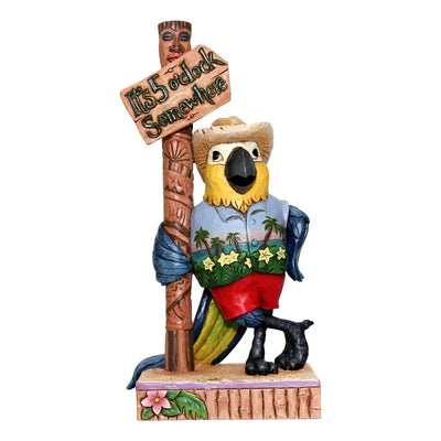 Jim Shore Margaritaville Pint Sized Parrot by Sign Post Figurine