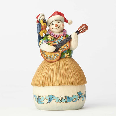 Jim Shore Margaritaville Tropical Snowman With Guitar Figurine