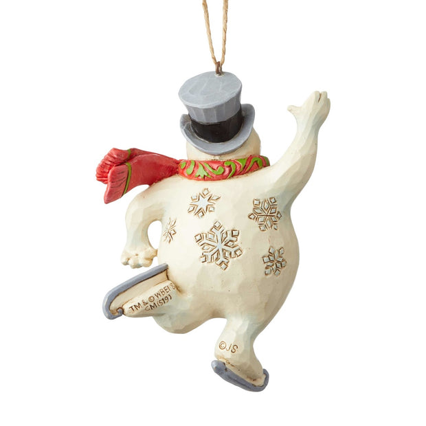 Jim Shore Frosty Ice Skating 2019 Dated Ornament