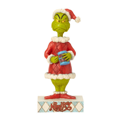 Jim Shore Grinch Two-Sided Naughty/Nice Figurine
