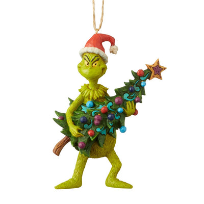 Jim Shore Grinch Holding Tree Ornament