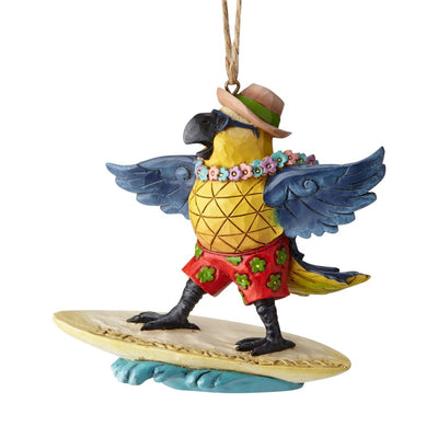 Jim Shore Margaritaville Surfing Parrot Ornament