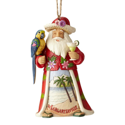 Jim Shore Margaritaville Santa With Margarita Ornament