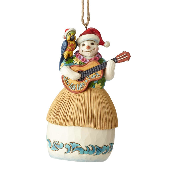 Jim Shore Margaritaville Snowman With Guitar Ornament