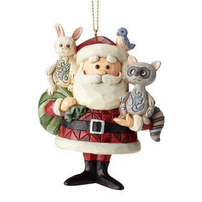 Jim Shore Santa With Woodland Animals Ornament