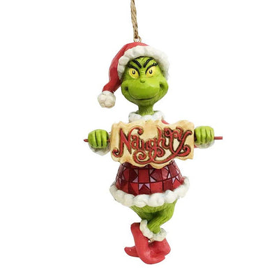 Jim Shore Grinch With Naughty Or Nice Sign Ornament