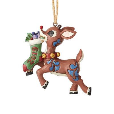 Jim Shore 2019 Rudolph Stocking Ornament