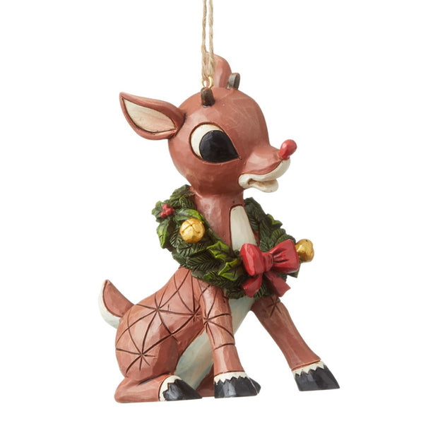 Jim Shore Rudolph With Wreath Ornament