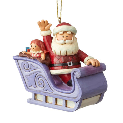 Jim Shore Santa in Sleigh Rudolph Ornament