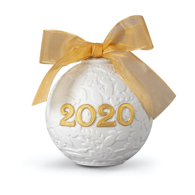 Lladro 2020 Ball Christmas Ornament (Gold Re-Deco)