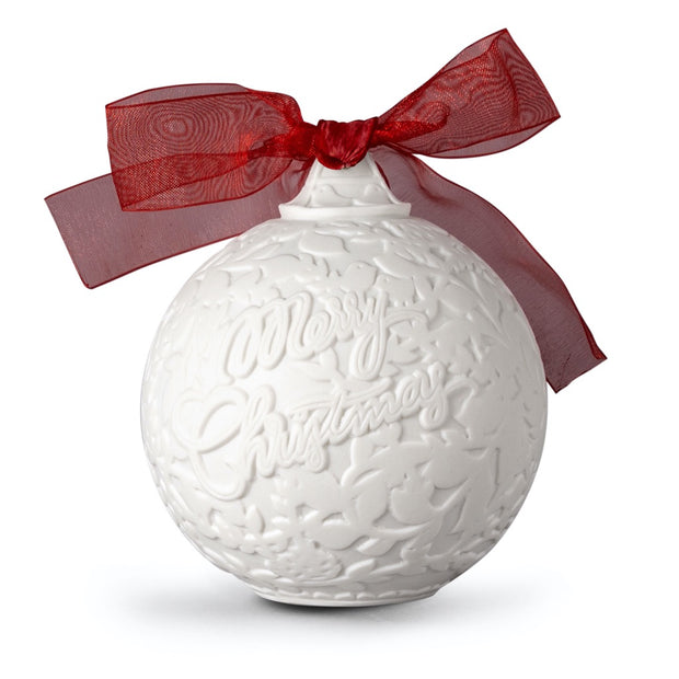 Lladro 2020 Ball Christmas Ornament (Red Re-Deco)