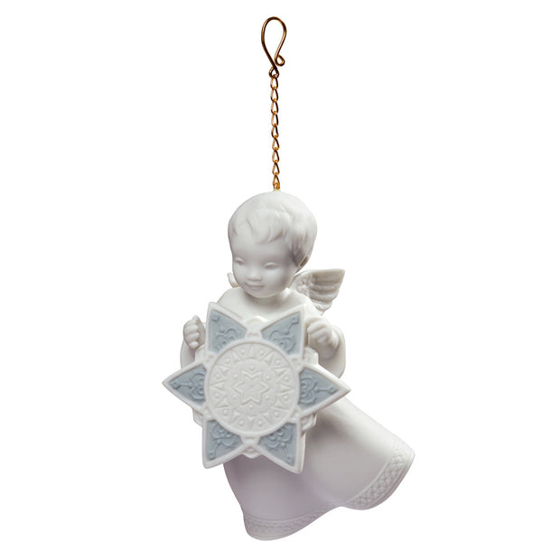 Lladro Angel With Star Christmas Ornament