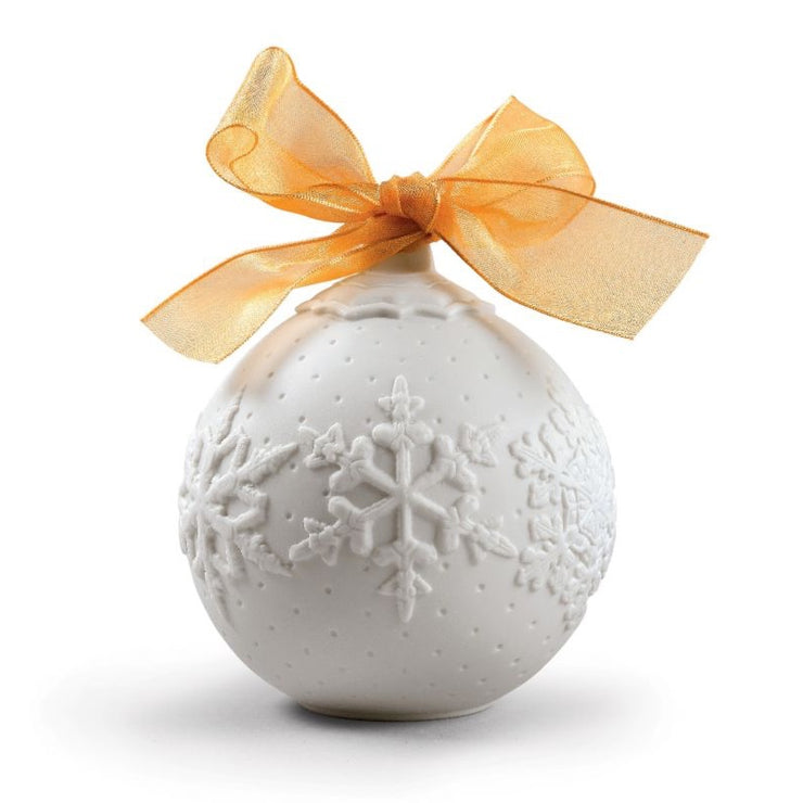 Lladro 2019 Ball Christmas Ornament (Gold Re-Deco)