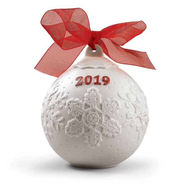 Lladro 2019 Ball Christmas Ornament (Red Re-Deco)