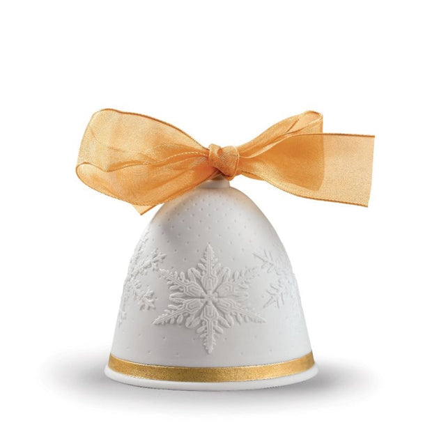 Lladro 2019 Bell Christmas Ornament (Gold-Re-Deco)
