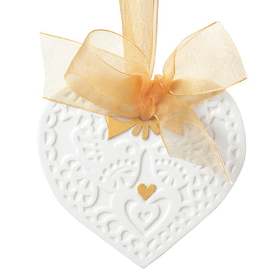 Lladro Christmas Heart Ornament