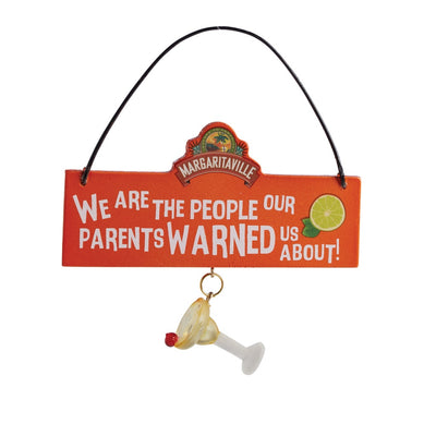 Margaritaville Orange Margarita Plaque Ornament