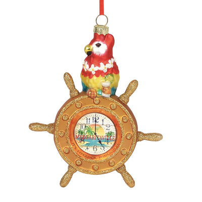 Margaritaville Parrot At The Helm Ornament
