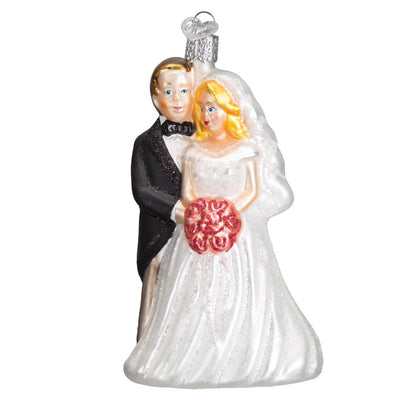 Old World Christmas Bridal Couple Ornament