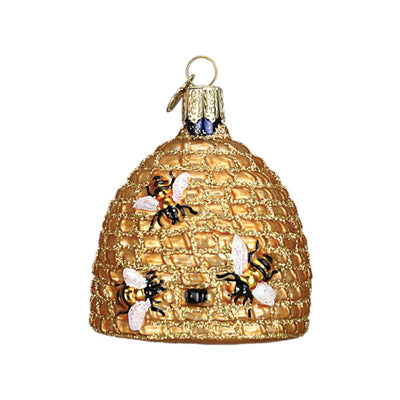 Old World Christmas Bee Skep Ornament