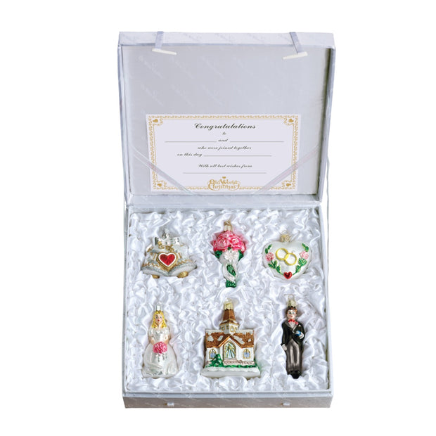 Old World Christmas Wedding Collection Ornament Set