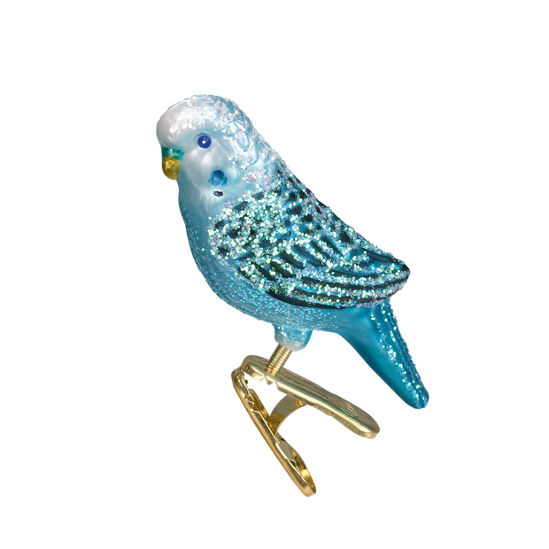 Old World Christmas Miniature Parakeet Ornament - Blue