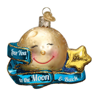 Old World Christmas Love You To The Moon & Back Ornament