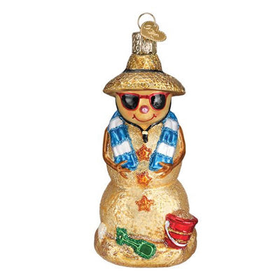 Old World Christmas Sand Snowman Ornament