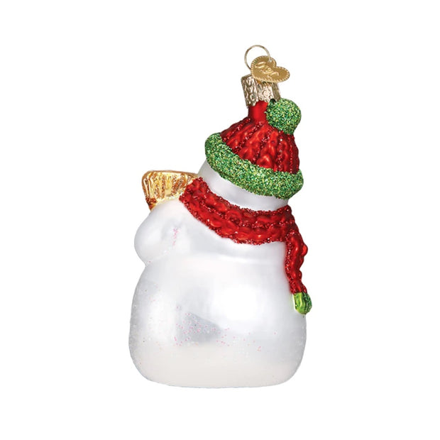 Old World Christmas Snowman With Broom Ornament