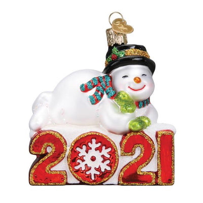 Old World Christmas 2021 Snowman Ornament
