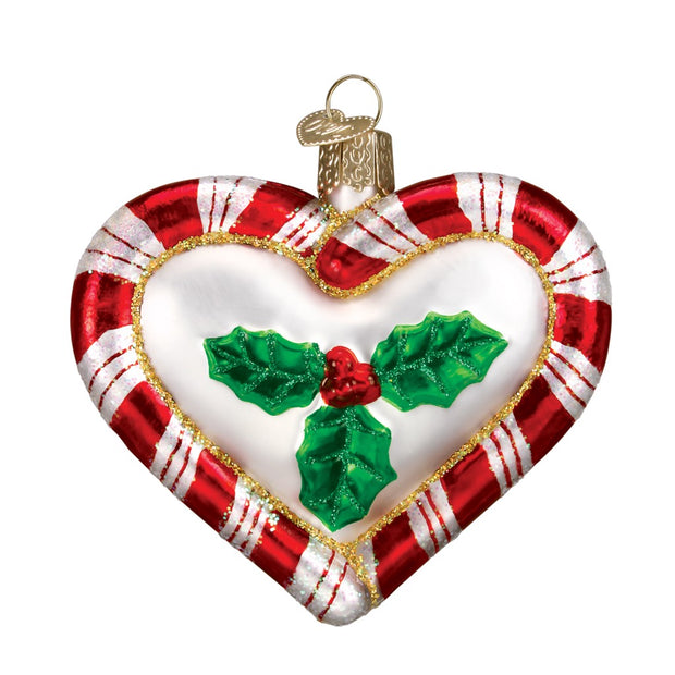 Old World Christmas Peppermint Heart Our First Christmas Ornament