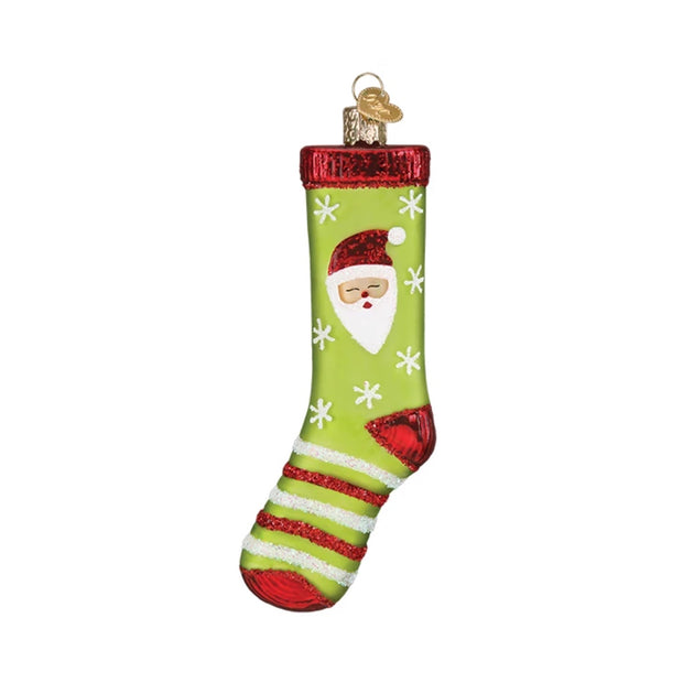 Old World Christmas Sock Ornament