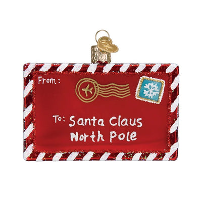 Old World Christmas Letter to Santa Christmas Ornament