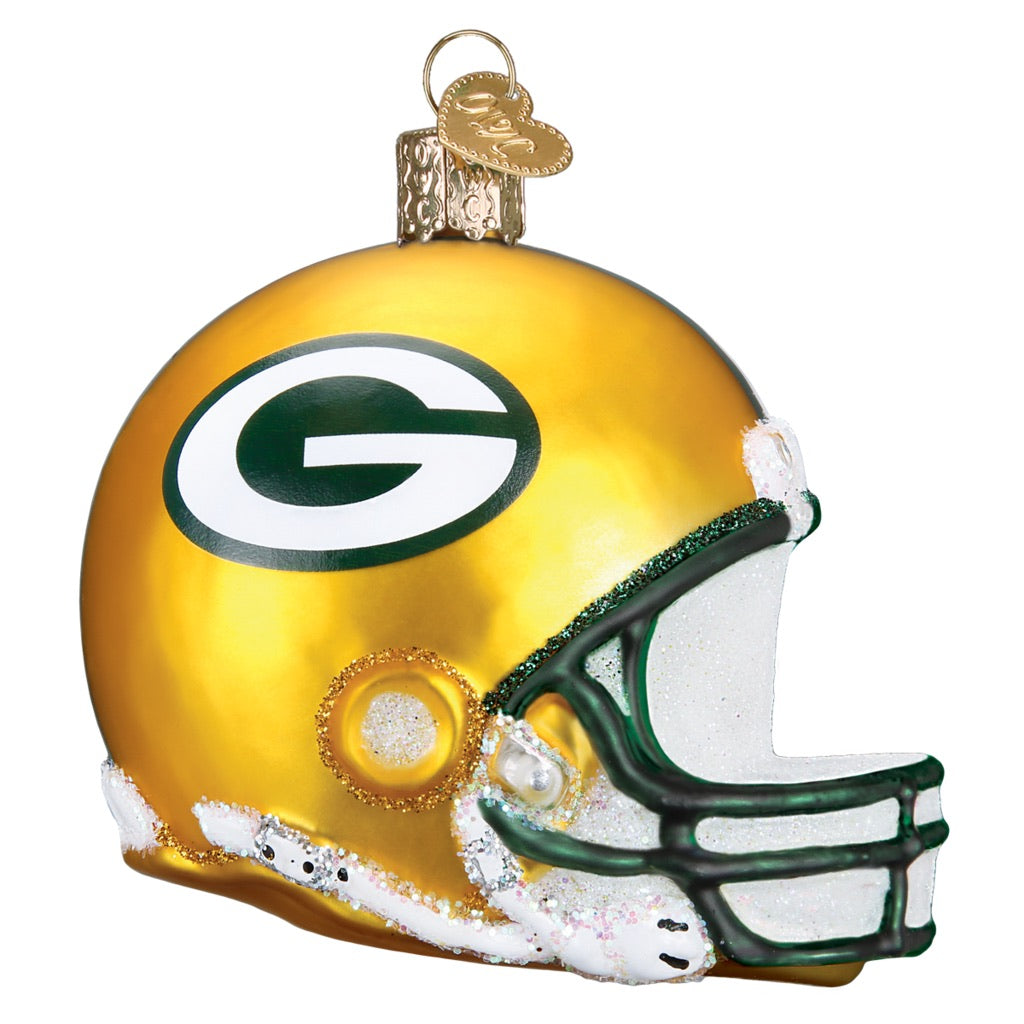 Old World Christmas Green Bay Packers Helmet Ornament Annual Ornaments