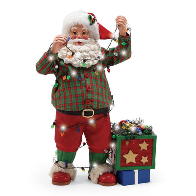 Possible Dreams Clothtique Christmas Lights Santa Figurine