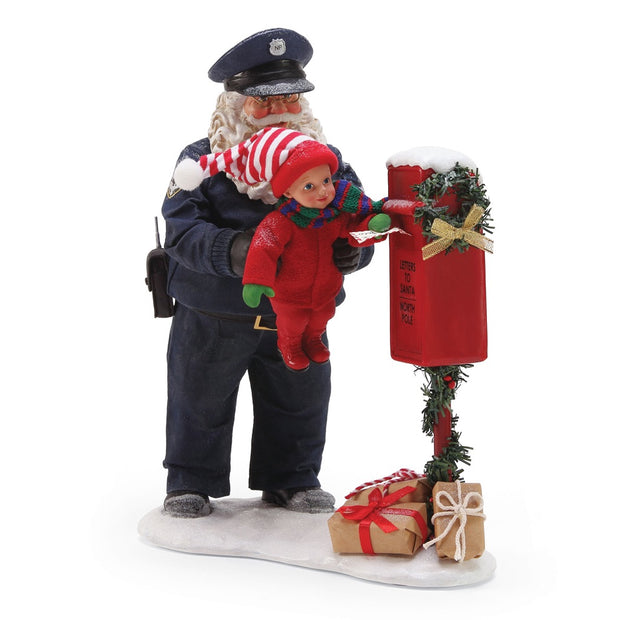 Possible Dreams Clothtique Protect And Serve Santa Figurine