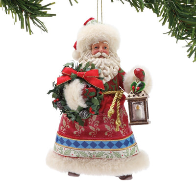 Possible Dreams Clothtique Jim Shore Santa Ornament