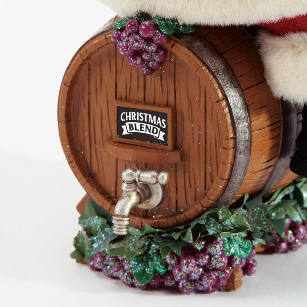 Possible Dreams Clothtique Barrel Tasting Santa Figurine