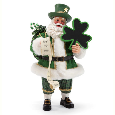 Possible Dreams Clothtique Irish Cheer Santa Figurine