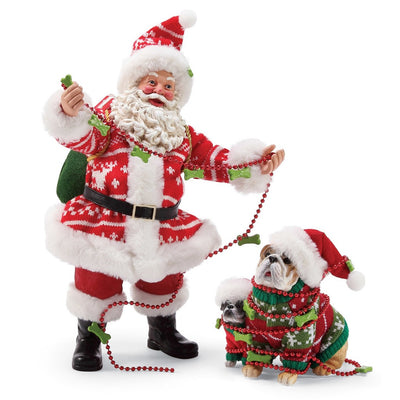 Possible Dreams Clothtique Sweaters For Everyone Santa Figurine