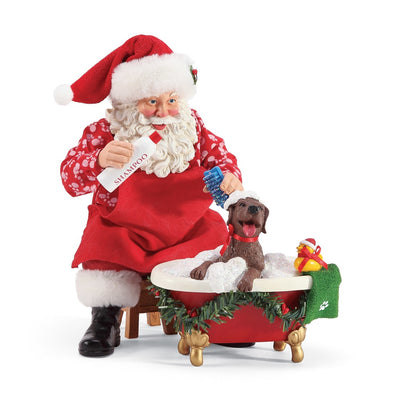 Possible Dreams Clothtique Splish Splash Santa Figurine