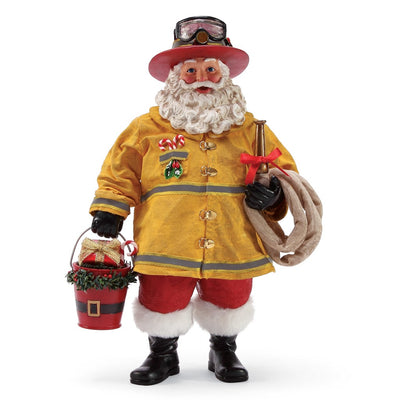 Possible Dreams Clothtique Bucket Brigade Santa Figurine