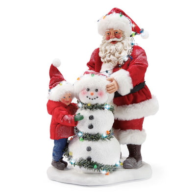 Possible Dreams Clothtique Winter Cheeks Santa Figurine