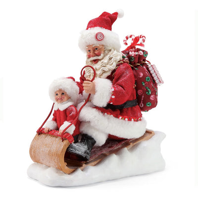 Possible Dreams Clothtique Snow Much Fun Santa Figurine