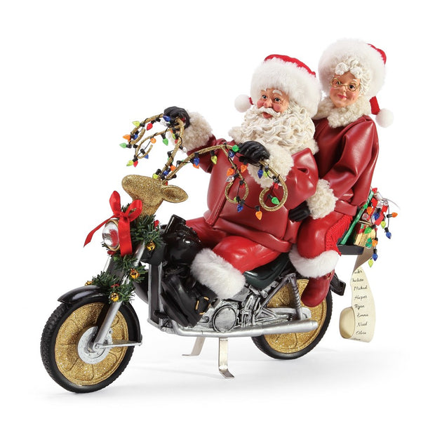 Possible Dreams Clothtique Christmas Chopper Santa & Mrs. Claus Figurine
